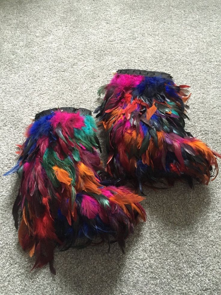 Womens Feathered multi coloured platformed heeled boots size 4 in Clothes, Shoes & Accessories, Women's Shoes, Boots | eBay