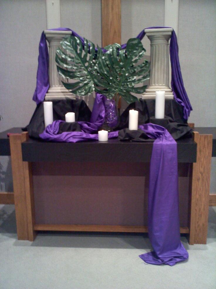 Exceptional Palm Sunday 2012 U003c  I Love The Use Of Pillars + Fabric. Altar  DecorationsWorship IdeasChurch ...