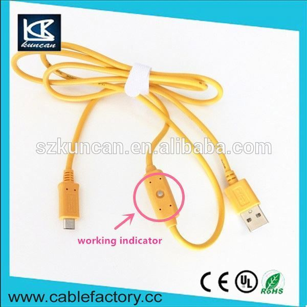High speed usb 2.0 20awg/2c data charging cable A male to Micro 5 pin connector show real time voltage and current-HDMI cable supplier | Solar cable | USB cable | DVI cable | VGA cable | Power cord manufacturer|  #usbcord