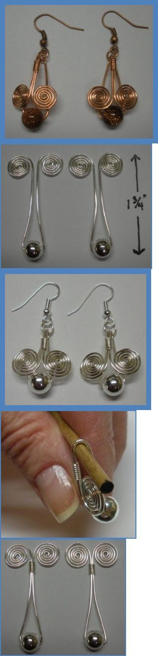 Earrings pattern - Egyptian coil.  #Wire #Jewelry #Tutorials