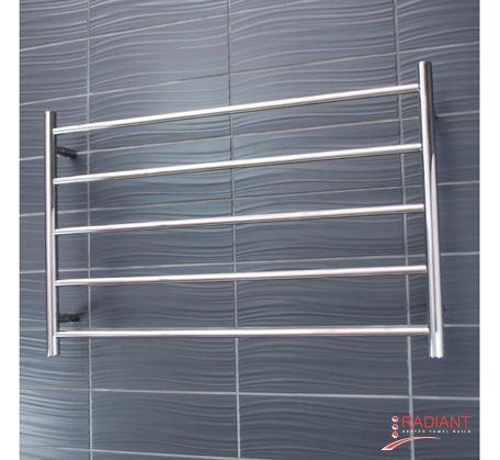 Heated Towel Ladder 950mm x 600mm - 5 Round Bars   Bathroomware House