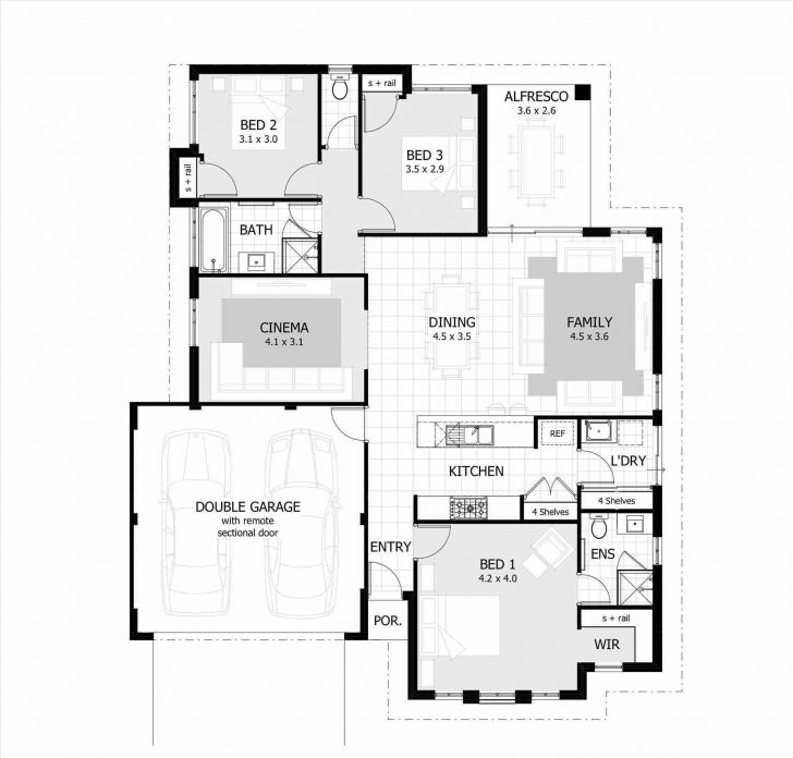 Marvelous Simple 3 Bedroom House Plans Without Garage Lovely Theworkbench Simple 3 Bedroom House Pl In 2020 Garage House Plans Bedroom Floor Plans Mansion Floor Plan