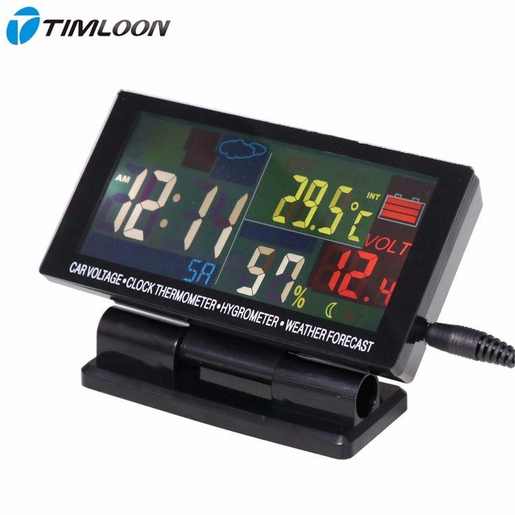 12 V-24 V Auto Voltage, Klok Thermometer, Hygrometer, Weerbericht Maandelijkse Kalender Met Kleur Display grote Scherm