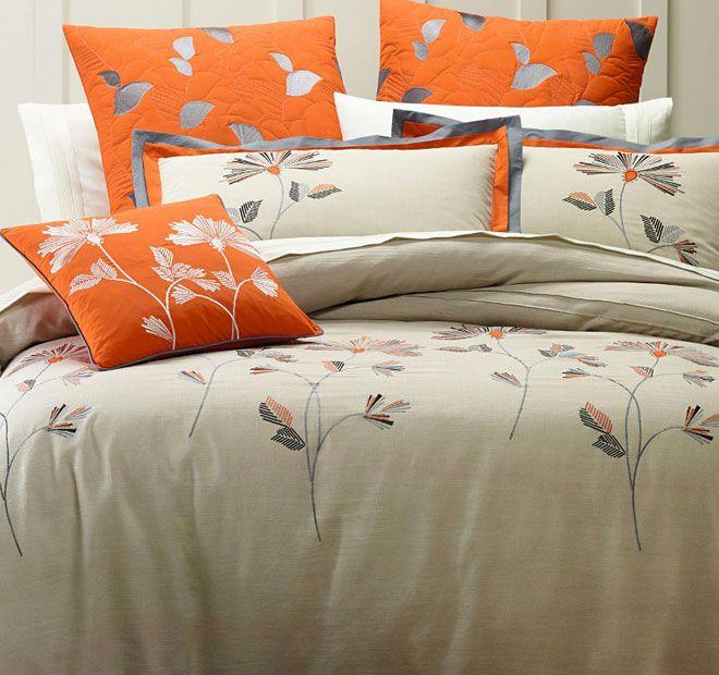 Lux Orange Blossom Quilt Cover Set Range