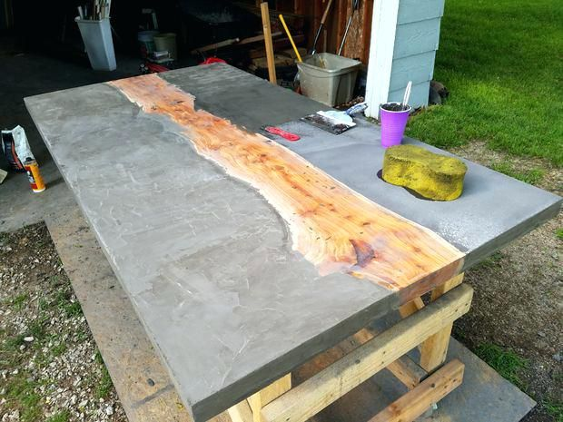 Concrete And Wooden Picnic Tables Concrete And Wood Table For Sale Img 20160604 192146jpg Concrete And Wood Dining Table Uk