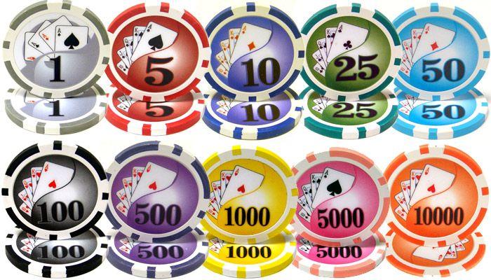 Yin Yang 13.5 gram clay composite Poker Chips.