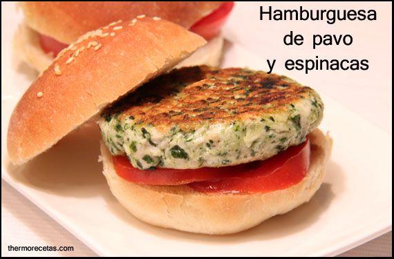 hamburguesa de pavo y espinacas thermorecetas. Hamburguesas de pavo y espinacas