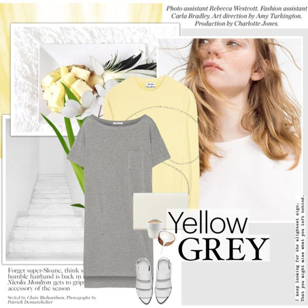 How To Wear #yellowandgrey Outfit Idea 2017 - Fashion Trends Ready To Wear For Plus Size, Curvy Women Over 20, 30, 40, 50