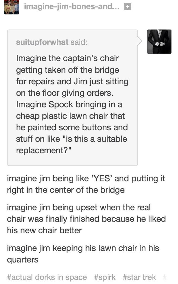 Tbh sounds more like chris and zachary than jim and spock