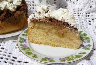 W Mojej Kuchni Lubię.. : ciasto z jabłkami z kruszonką herbatnikową i cynam...