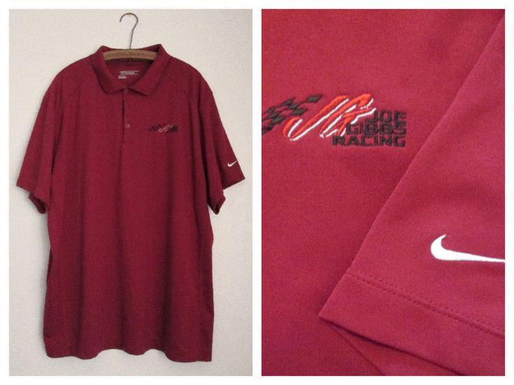 Joe Gibbs Racing NIKE Golf Mens Red Polo Shirt Size XXL NASCAR #NikeGolf #JoeGibbsRacing