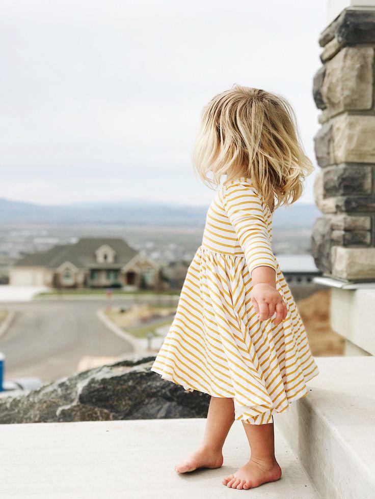 yellow striped dress   Alice + Ames