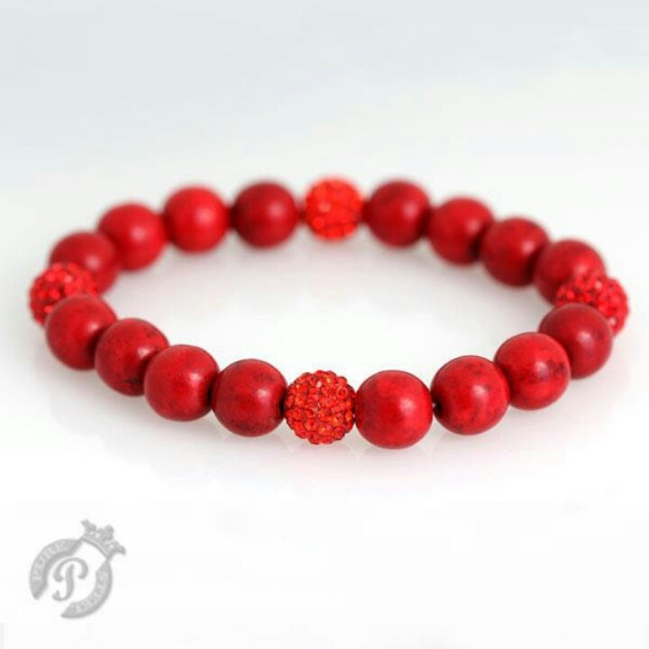 Red coral and crystal
