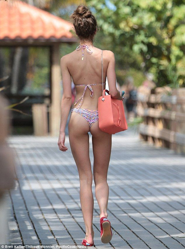 New Victoria's Secret Angel: The 19-year-old was spotted heading to the beach in a bikini that showed off her long limbs and incredibly toned physique