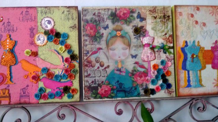 Retablos en Vintage para regalos y decoración. Diseños Marta Correa Blog: disenosmartacorrea.blogspot.com Cel: 321 643 63 84
