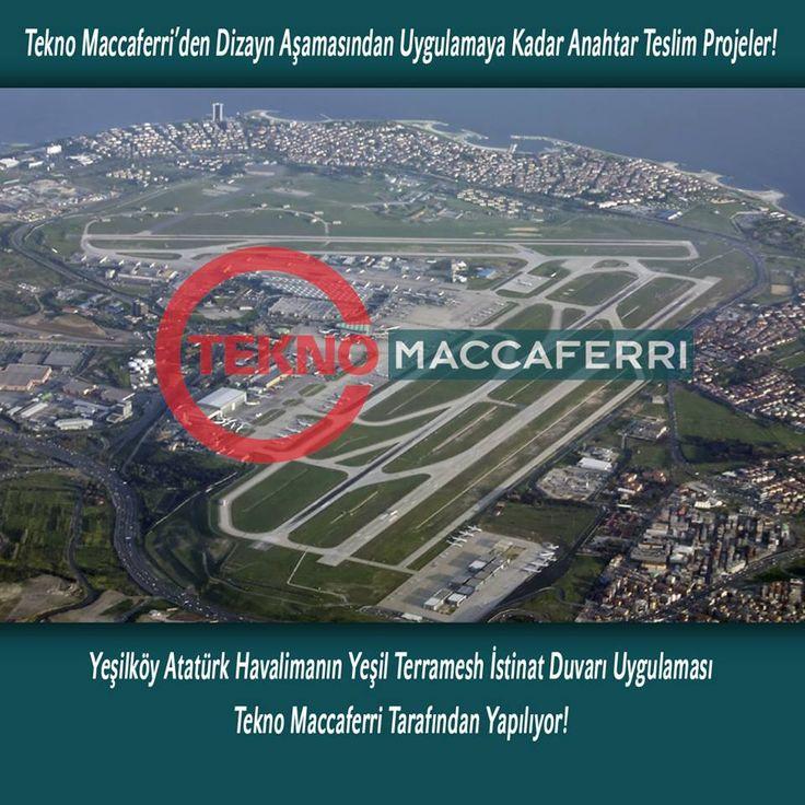 Yeşilköy Atatürk Havalimanın Yeşil Terramesh İstinat Duvarı Uygulaması