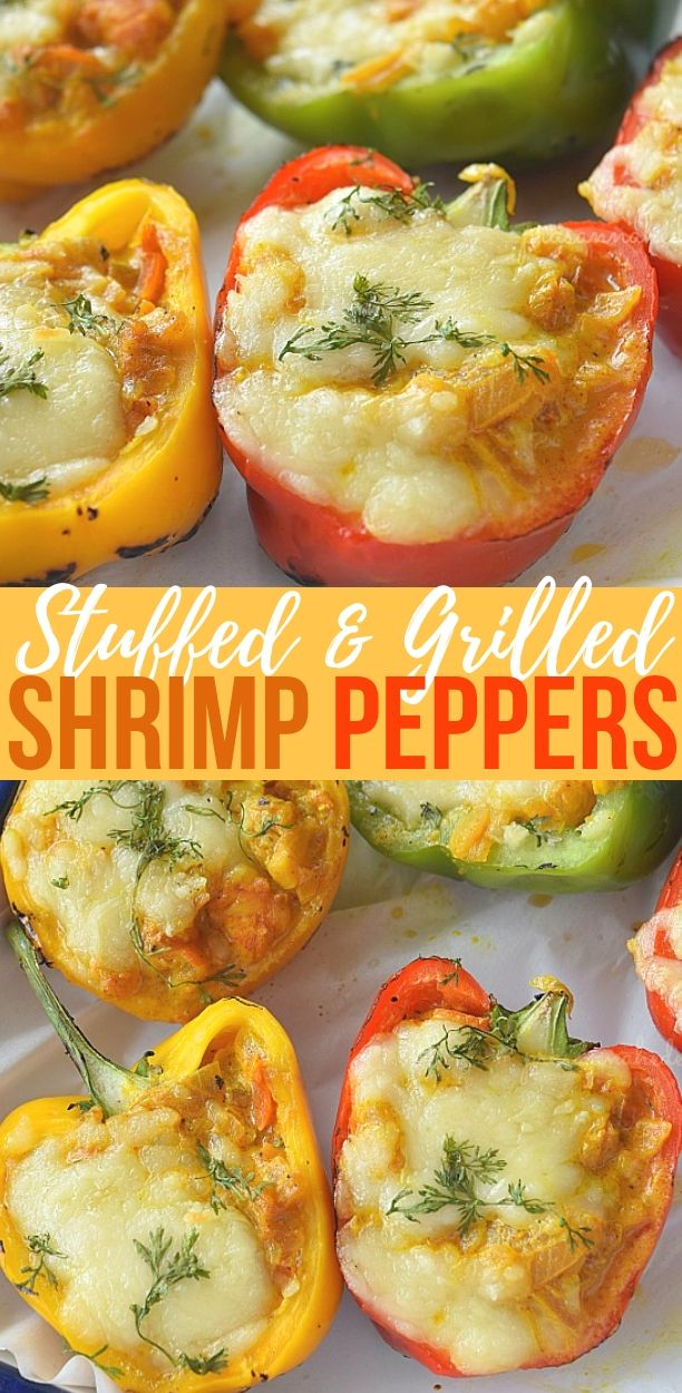 Stuffed Peppers Shrimp Stuffed Peppers Recipe Stuffed Peppers Best Seafood Recipes Fish Recipes Healthy