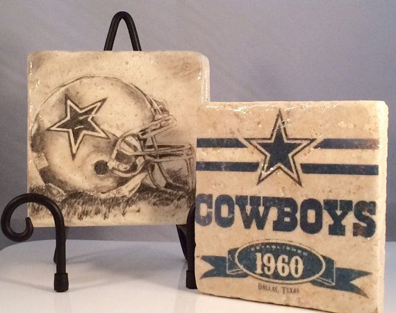 Vintage Dallas Cowboys Coaster Set Set includes 4 by CasitaBella