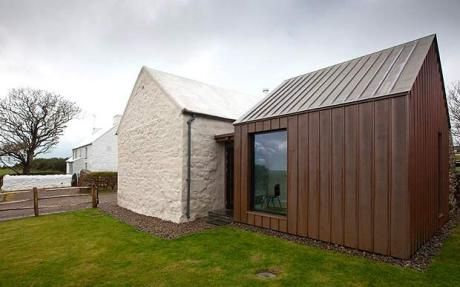Trehilyn East Farm, Pembrokeshire, via Flickr. TECU Bronze from KME.  Seam-cladding to roof and facade.  Architects: Grumpy Ltd, London.  Installer: James Gibbings & Sons, Bristol