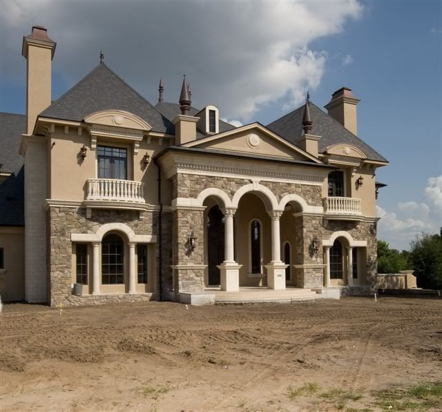 french country inspired homes for a rustic look grey roof cream wall two stories french country inspired homes with stone dickoattscom country
