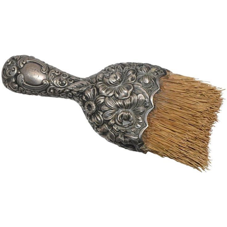 Victorian Sterling Whisk Crumb Brush   From a unique collection of antique and modern more dining and entertaining at https://www.1stdibs.com/furniture/dining-entertaining/more-dining-entertaining/