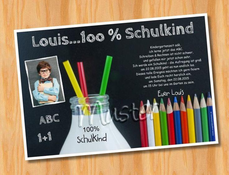 Einladungskarten Einschulung Schulanfang Muster 53   Bild, Kreative  Einladungen