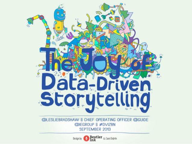 The Joy of Data Driven Storytelling by Leslie Bradshaw via slideshare