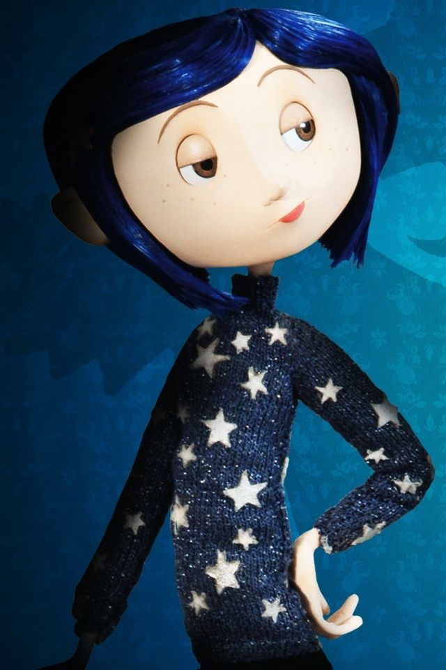 Coraline. In the special features, they explain how her sweater and gloves are actually hand-knit.