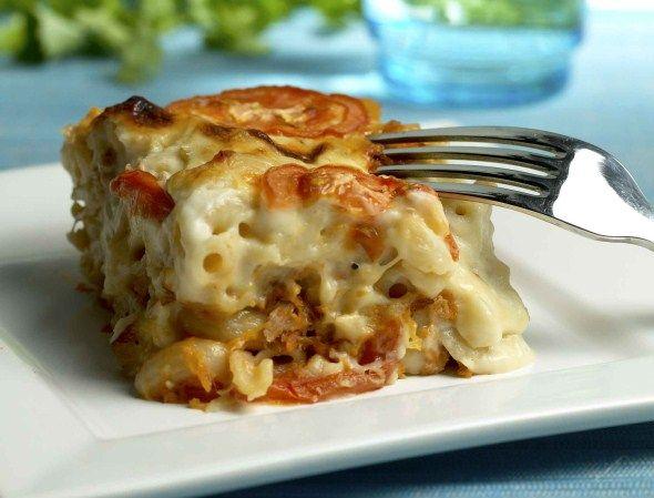 Macaroni casserole with ham - Kinkku-makaronivuoka, resepti – Ruoka.fi