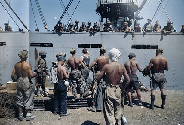 U.S. Sailors in the Port of Palermo shortly after the invasion of Sicily on August 22, 1943 on Palermo, Italy. Pin by Paolo Marzioli