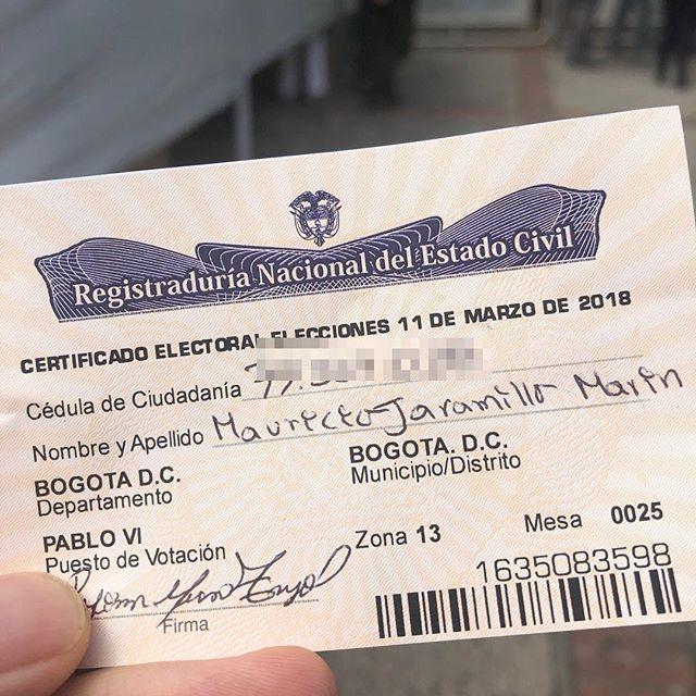Cumplido el deber con Colombia. #EleccionesColombia2018 #ColombiaDecide