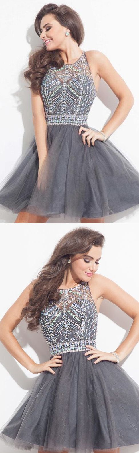 Prom Dresses 2017, Cheap Prom Dresses, Short Prom Dresses, Prom Dresses Cheap, 2017 Prom Dresses, Prom Short Dresses, Cheap Short Homecoming Dresses, Homecoming Dresses Cheap, Cheap Short Prom Dresses, Cheap Homecoming Dresses, Homecoming Dresses 2017, Short Party Dresses, Grey Short Mini Party Dresses, Mini Short Homecoming Dresses, Mini Prom Dresses, 2017 Homecoming Dress Sexy Rhinestone Bateau Short Prom Dress Party Dress