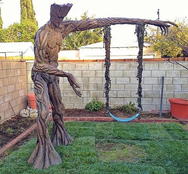 James Gunn, the director of this summer's monstrous blockbuster hit Guardians of the Galaxy, posted this image of an amazing Groot-themed swingset to his Instagram (now MIA) and Tumblr accounts yesterday.