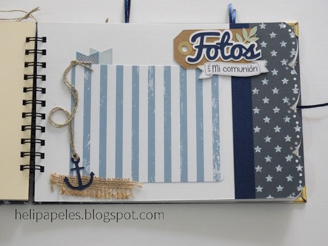 Heli Papeles ♥ - adorable nautical themed scrapbook-style photo album :)