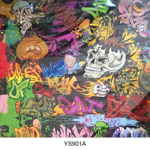 Hydrographics film skull pattern YS901A