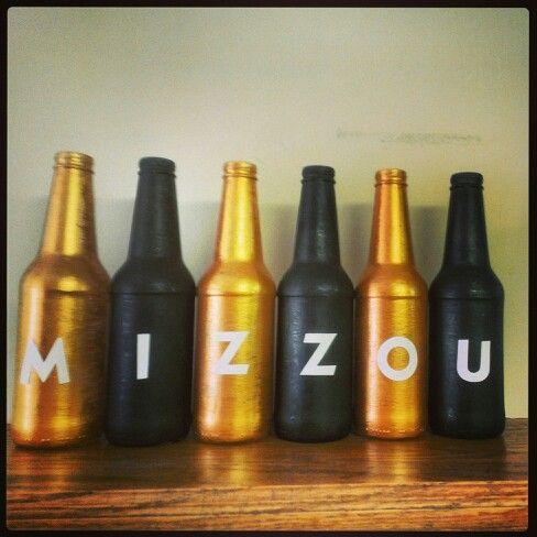 Mizzou Bottle Art I Made SS