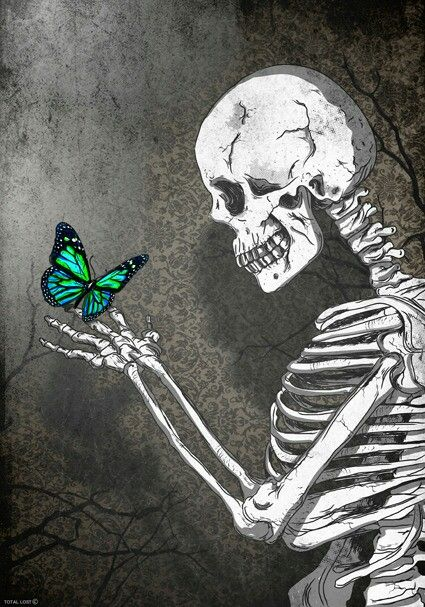 A Skeleton with a Butterfly
