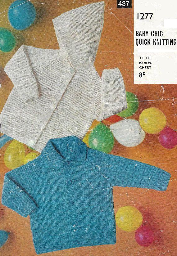 PDF knitting pattern toddler's child's boy's girl's jacket
