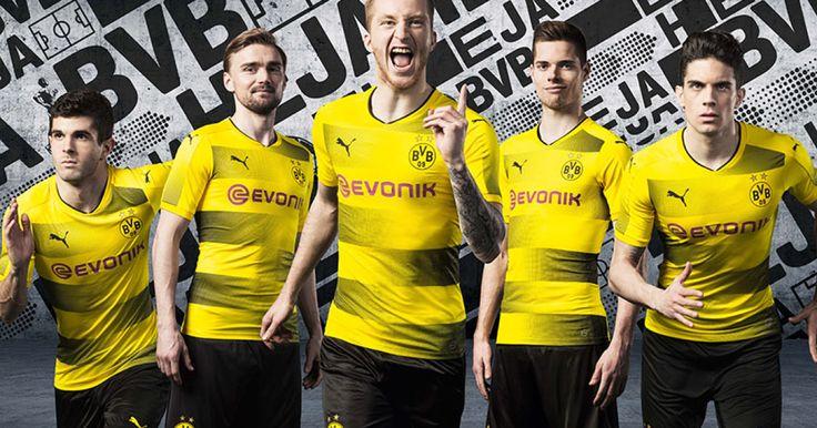 Puma hat das Geheimnis vor dem letzten Bundesliga-Spieltag gelüftet: In der neuen Saison wird Borussia Dortmund zuhause in einen Trikot mit Querstreifen auflaufen.