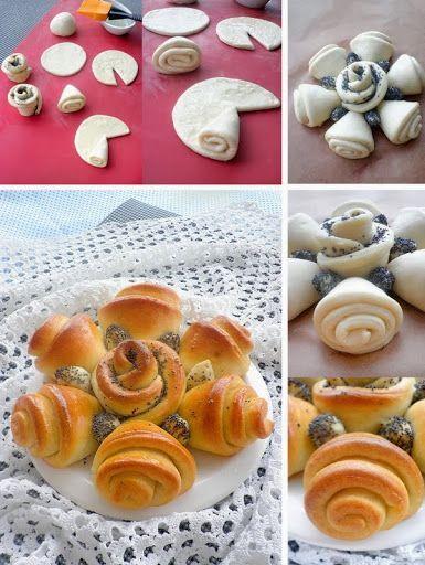 Come preparare un pane d'effetto per la tavola di Natale? Ecco una forma originale, da cospargere a piacere con semi di papavero, sesamo o altri. #zanollicasa