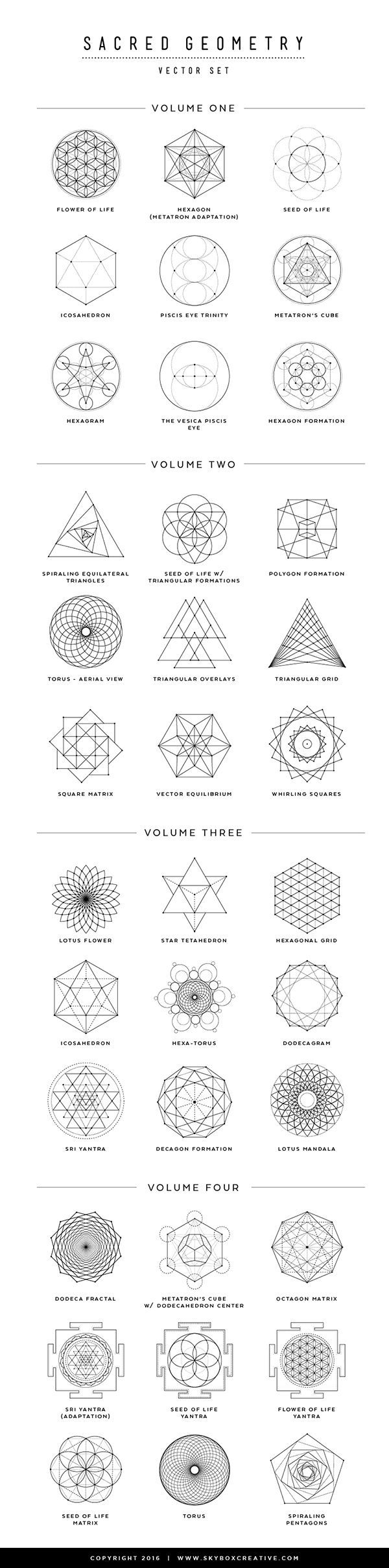 "Tatto Ideas & Trends 2017 - DISCOVER ""I created this PDF guide and short video to go over a few Sacred Geometry symbols, their names and meanings -- l"