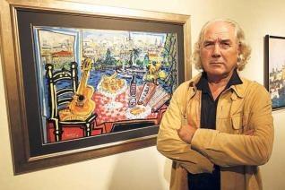 El pintor gallego, José María Barreiro, tiene expuestas algunas de sus obras en nuestro hotel Los Abetos.
