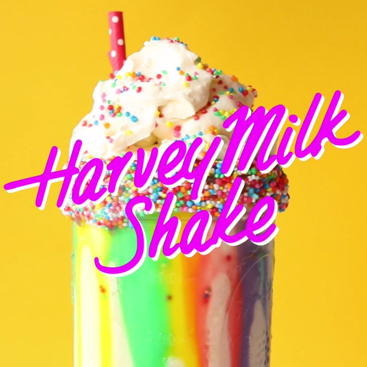 Is this the most colorful milkshake ever?