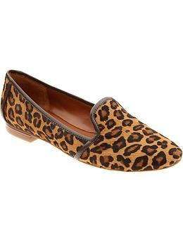 banana republic leopard loafers Louloumagazine.com