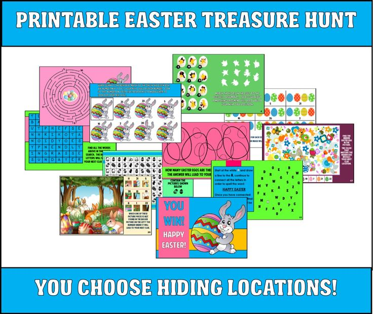 This printable Easter treasure hunt is perfect if you are looking for something a little different to do this Easter!