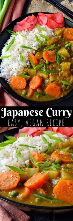 Vegan Japanese curry is a thick, stew-like dish with chunky vegetables and slightly sweet undertones. It's incredibly easy to make and immensely satisfying, especially on a chilly autumn or winter evening. Making Japanese curry from scratch is not complicated at all and allows you full control over the spiciness and flavour profile of your finished dish.