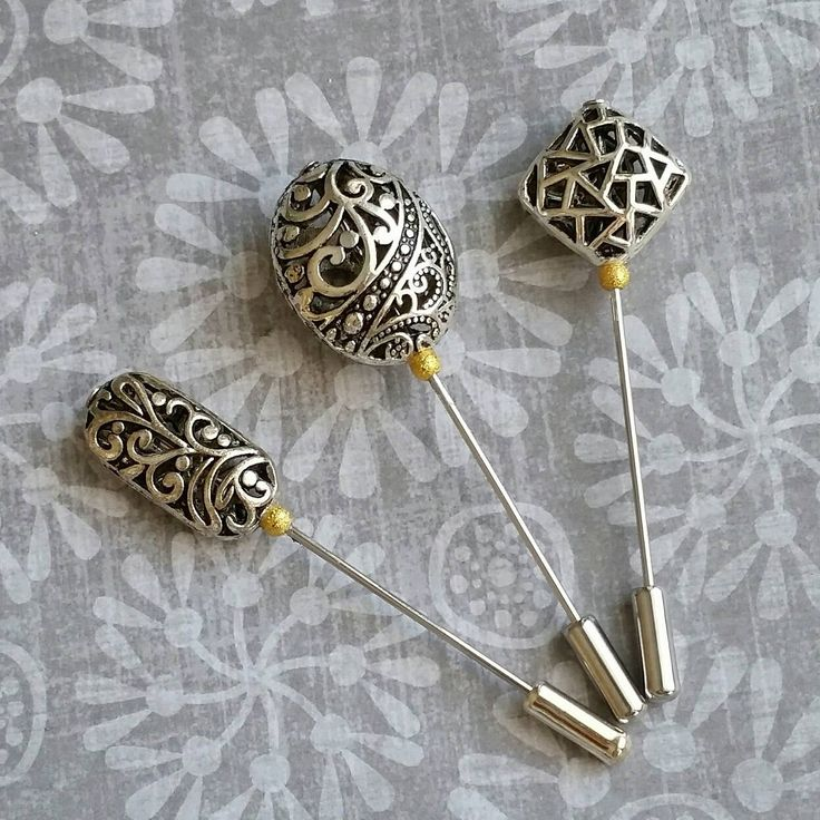 Hijab Pin Set, Silver Hijab Pins, Hijab Accessory, Scarf Pin, Bridal Hijab Pin                                                                                                                                                                                 Mais