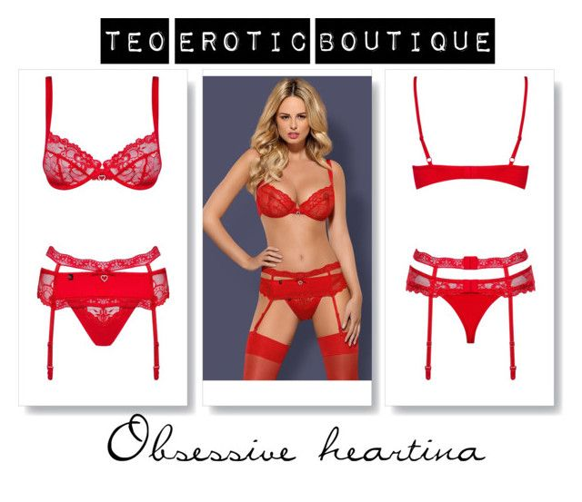 """Bra Set Obsessive Heartina"" by teoeroticboutique on Polyvore"