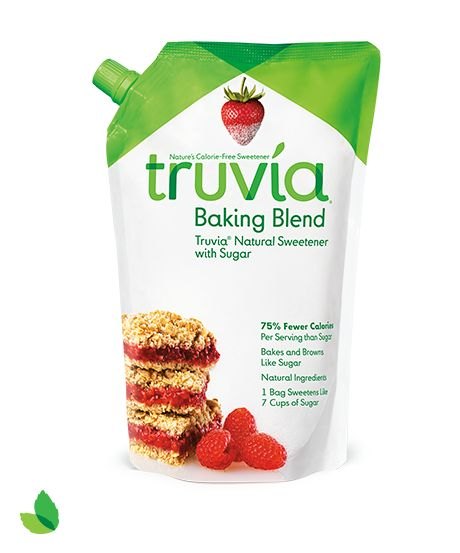 In a baking mood this weekend? #Truvia® Baking Blend bakes and browns just like sugar with 75% fewer calories per serving than sugar.