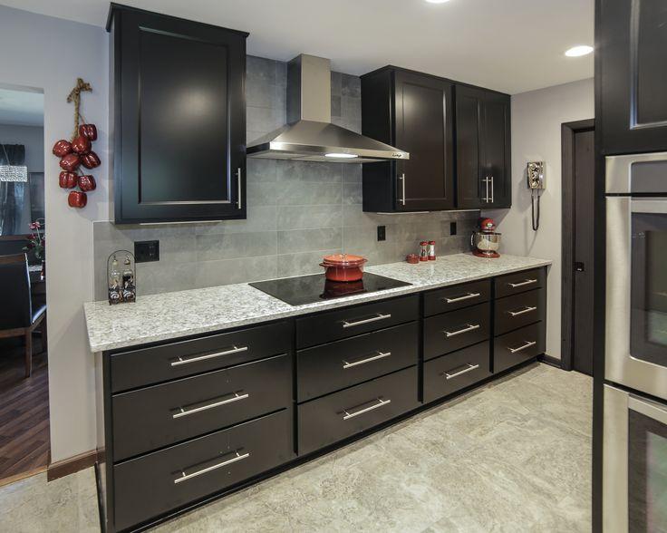 Farmhouse Kitchen White Cabinets Gray Countertops